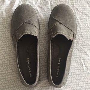 Rocket dog grey slip on shoes size 8